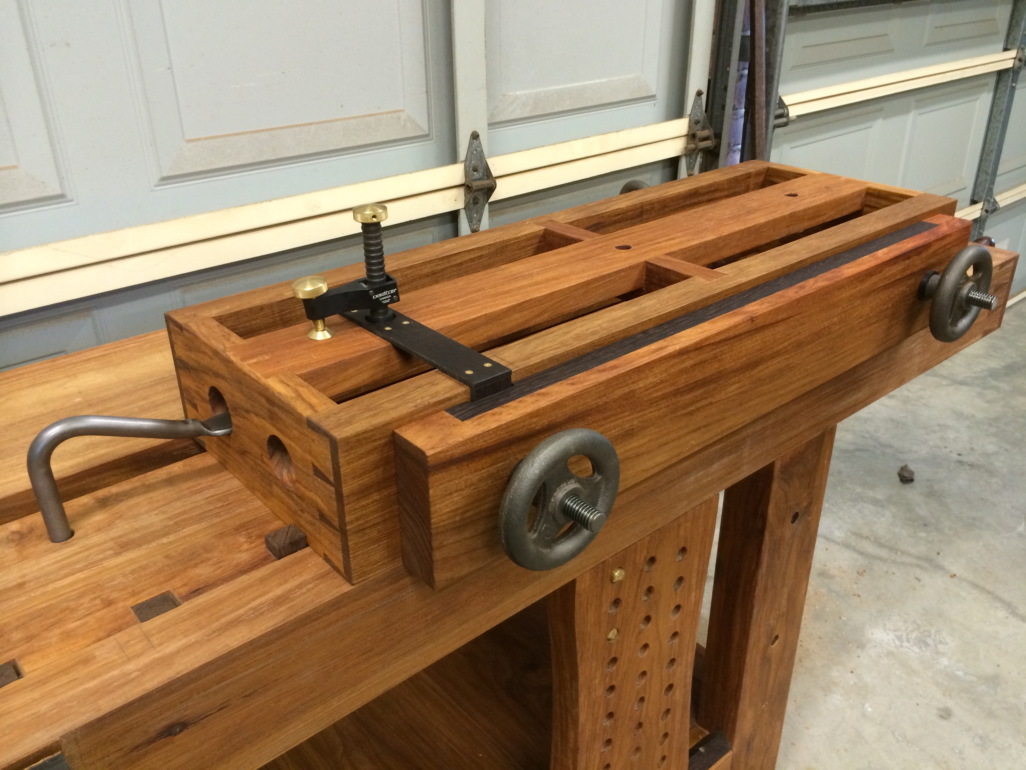vise jay jackman vice woodworking bench clamp bates workbench wood pallet installation woodshop works pipe